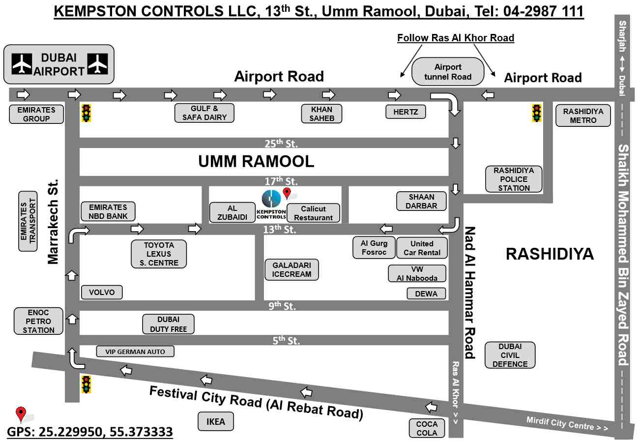 Kempston Controls LLC Location Map