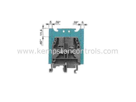 Entrelec - 0114 825.05 - Terminal Blocks, DIN Rail & Accessories