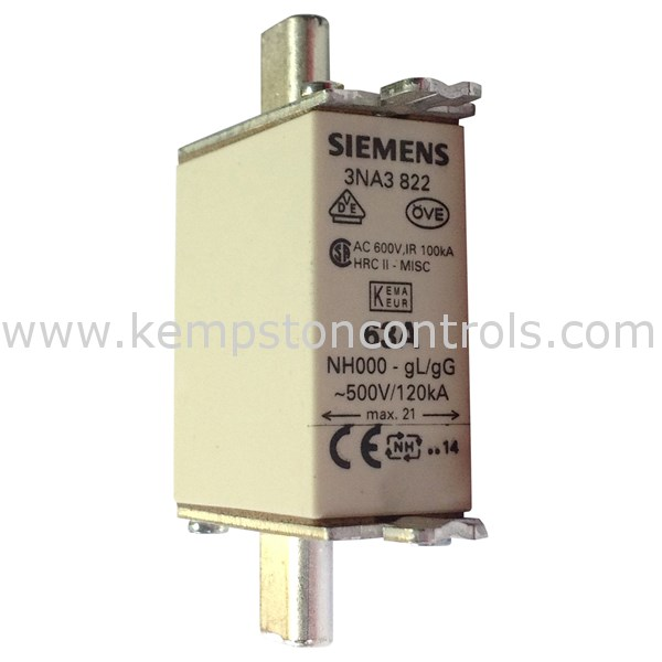 Siemens - 3NA3 822 - Centred Tag Fuses