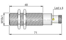 AECO - SI18-C5 PNP NC H - Proximity Sensors / Proximity Switches