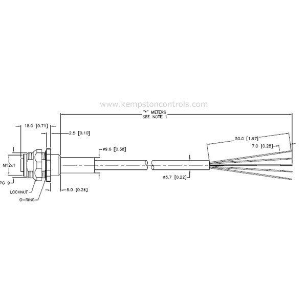 Turck Banner - FKFD4.5-10/S717 RECEPTACLE, M12, , 5 WIRE, 15.3MM DIAMETER on