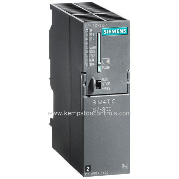 Siemens - 6ES7317-2AK14-0AB0 SIMATIC S7-300, CPU 317-2 DP, CENTRAL  PROCESSING UNIT WITH 1 MB WORK MEMORY, 1ST INTERFACE MPI/DP 12 MBIT/S, 2ND
