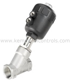 Burkert - 00178680 PNEUMATICALLY OPERATED 2/2 WAY ANGLE SEAT VALVE, NC,  G3/4 THREAD, 11BAR, MANUAL OVERRIDE, IECEX, ATEX APPROVED