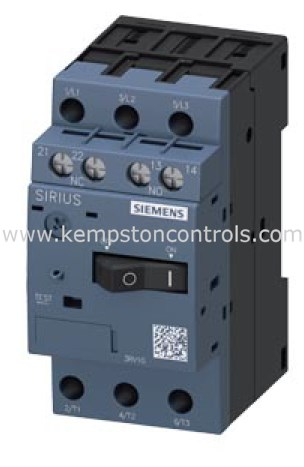 Siemens 3RV1011 Motor starter protector 1.25A contactor