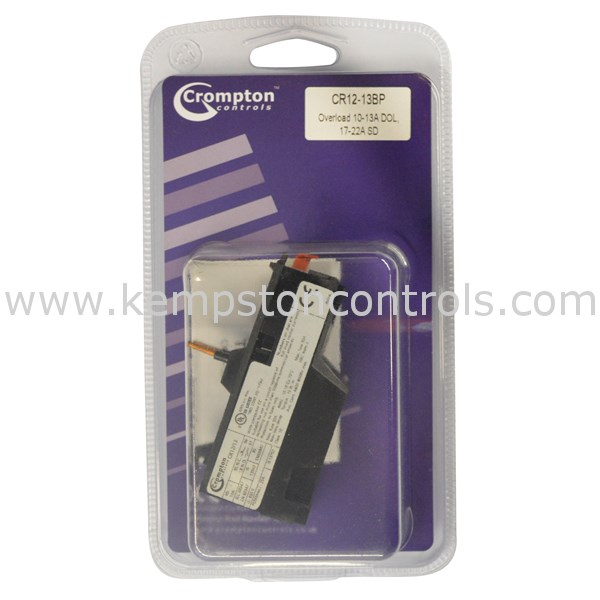 Crompton Controls CR12/13BP Overload Relays