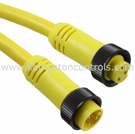 12.0 3 Poles 3.66m Male to Female Mini-Change A-Size Double-Ended Cordset Straight Straight Length PVC Cable 16 AWG