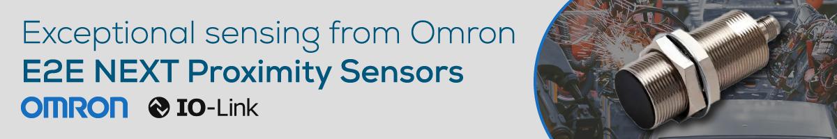 Exceptional Sensing from Omron, E2E NEXT Proximity Sensors
